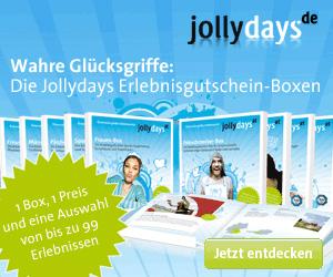 Bei Jollydays finden sich besondere Erlebnisgeschenke zu jedem Anlass.